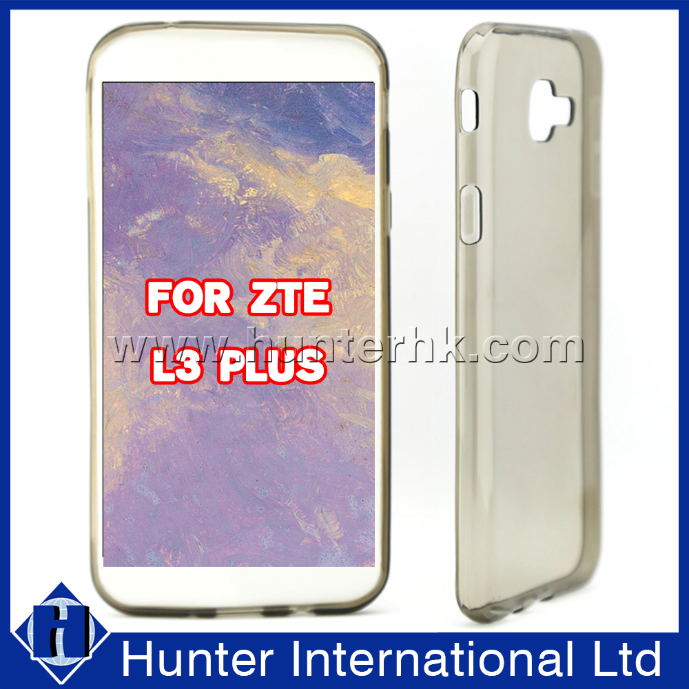 Wholesale Portable Plain Gel Case For ZTE L3 Plus