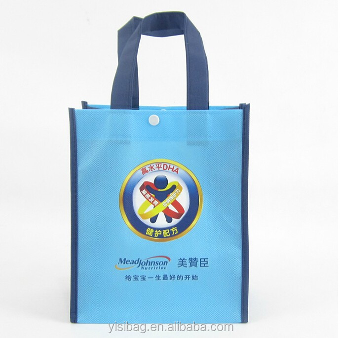 Custom Printing Handle Heavy Duty Reusable Non Woven Grocery Shopping Tote Bag