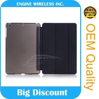 Flip leather with Transparent tablet cover for ipad air 2 case, for i pad case