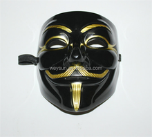 New V Vendetta Anonymous Movie Guy Fawkes Vendetta Mask Halloween Cosplay Party Masks black