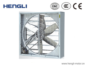 Metal steel body high airflow wall exhaust fan for poultry farm and greenhouse