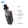 E cigarette Kits Mini Vaporizer Pen 1500mah Battery Capacity Huge Vape Mod Kit