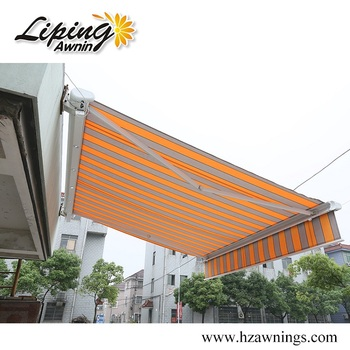 Dual-roller Balcony Retractable Awning Shade Canopy