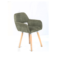 Modern European style Dining room chair wooden arm table chair