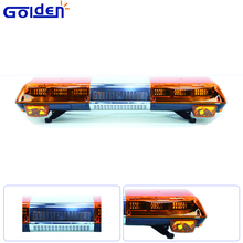 High Intensity LED Warning Emergency Amber Light Bar with 100W speaker for Tow Truck