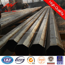 169kv transmission pole galvanized steel pole clamps with galvanization and bitumen for electrical power projects