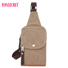 Canvas unisex cross body bag messenger shoulder back pack sling chest bag