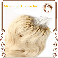 Grade 10A virgin remy human hair brazilian micro ring loop hair extensions