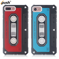 2017 Newest design TPU+PC Classic vintage tape series cassette tape phone case for iPhonex 7/8 mobile case with dust plug