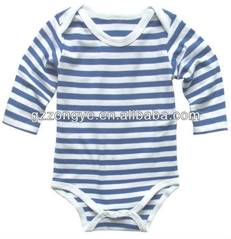 Baby's stripe long sleeve romper,baby's romper,baby's body suit