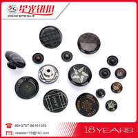 Wholesale special packaging washable Round Laser custom button