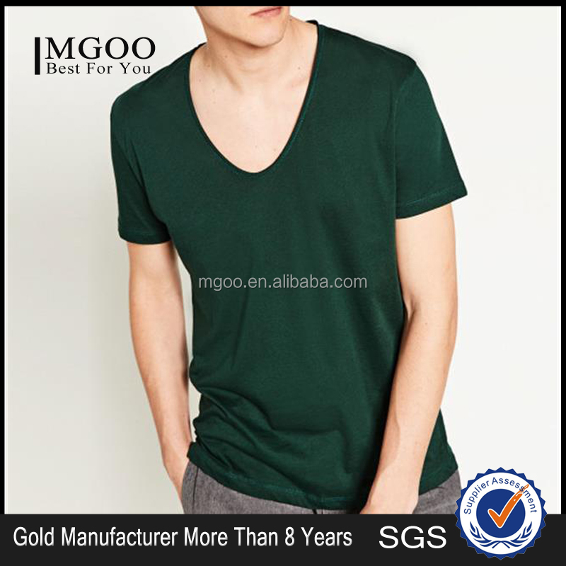 Customzide Color And Fabric Dry Fit 100% Polyester T Shirt V Neck Blank Tees Clothing Manufacturers