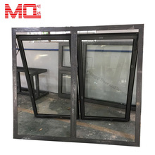 French style dark grey colour commercial large awning windows
