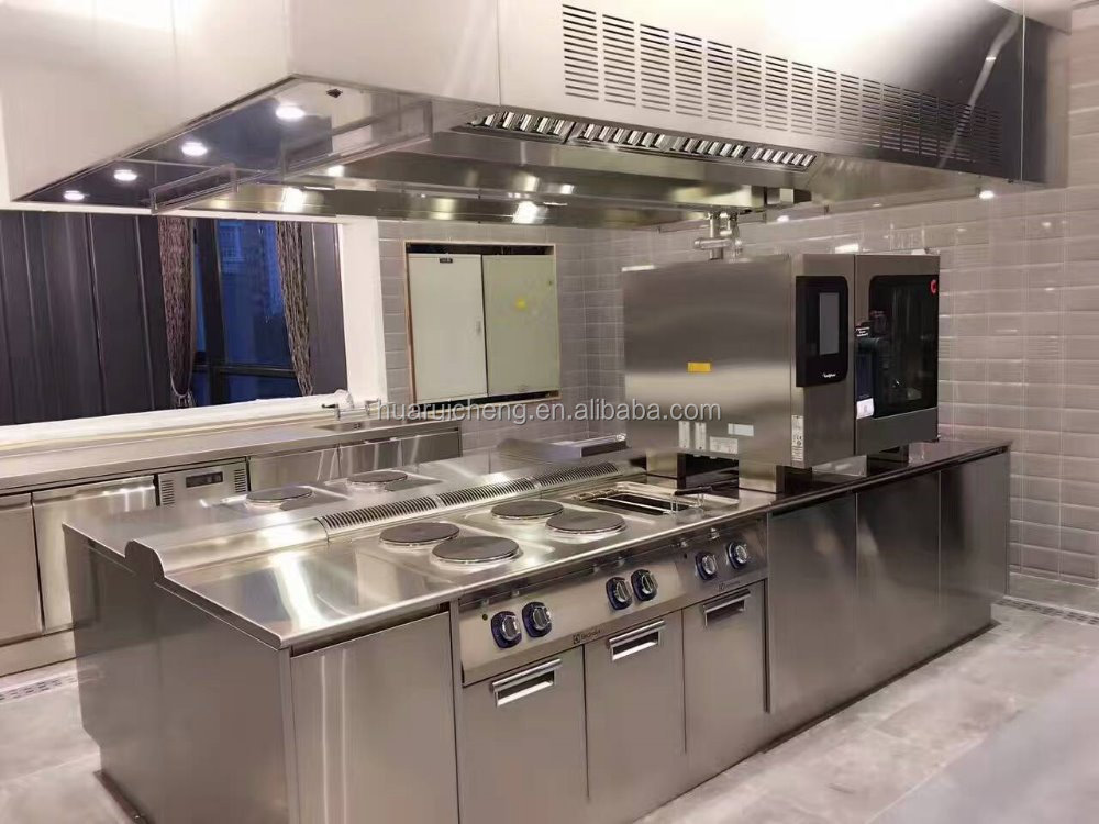 Top quality 304 stainless steel 5 star hotel kitchen equipment