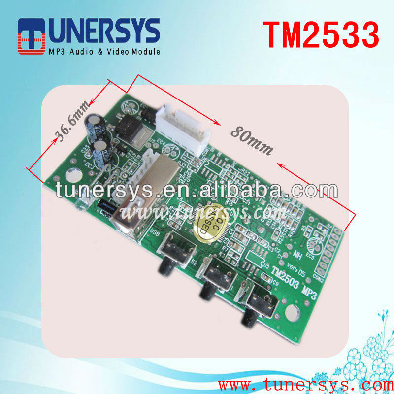 TM2533 usb sd mp3 interface adapter from China Tunersys