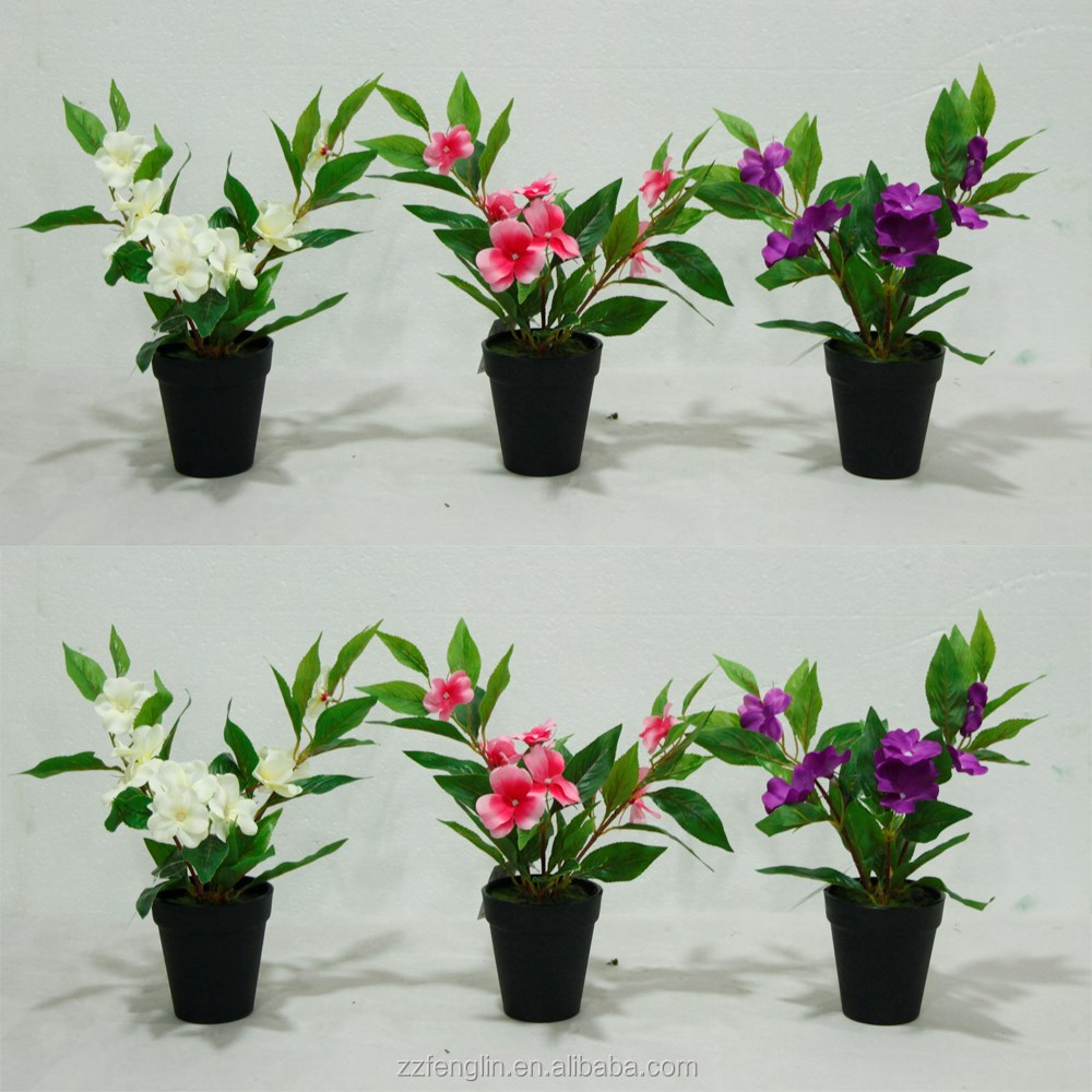 New design china factory silk flower home decoration artificial new design china factory silk flower home decoration artificial flower in decorative pot life like impatiens touch me not buy artificial flowerchina dhlflorist Gallery