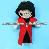 fashion handicraft fabric string voodoo doll names,little doll keychains
