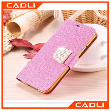 Full Body Stand Holder Card Slots Diamond Flip Leather Wallet Bling Glitter Phone Case for Samsung s7 s6 edge