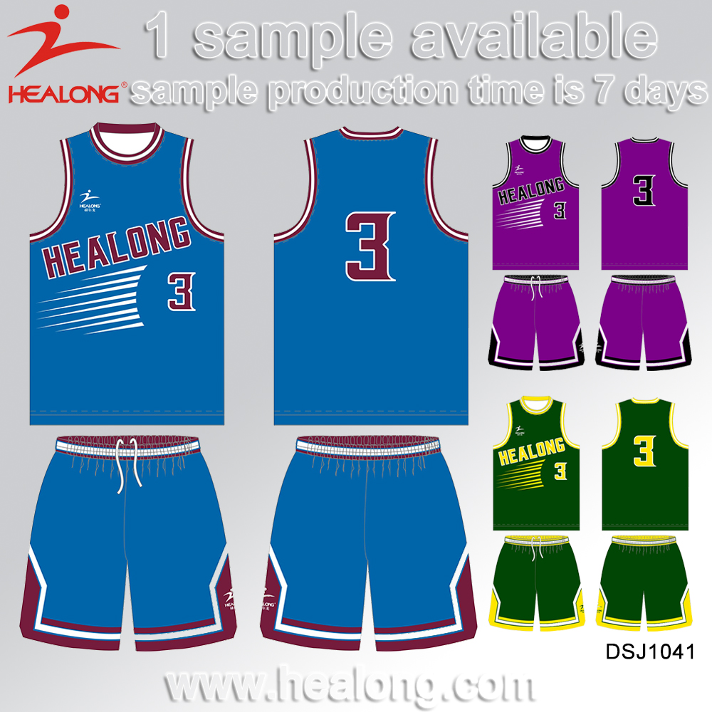 China Factory Wholesale Cheap Reversible Sublimation 2016 New Design Basketball Uniform