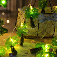 Coconut Tree Lights LED String With Battery Powered Indoor Christmas Festival Decoration Light