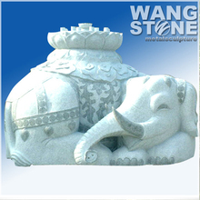 Large Sitting Elephant Stone Sculpture