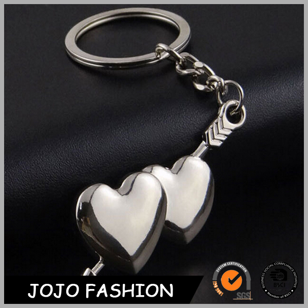 Sweet love heart custom logo shape romantic lover keychains