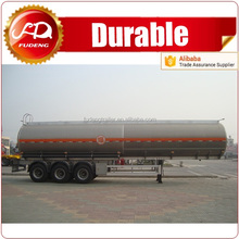 4 axle aluminum diesel gas and oil tanker semi trailer for sale