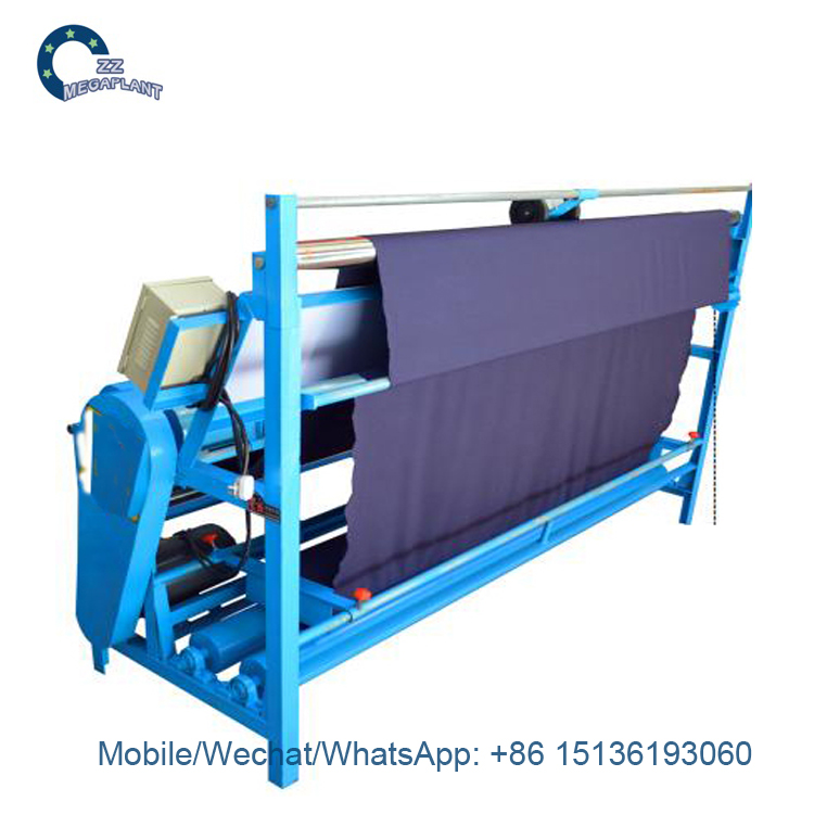 Fabric rolling measuring Inspection wind block fabric machine