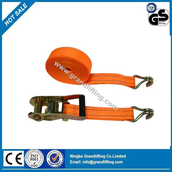 Polyester tie down ratchet lashing cargo strap