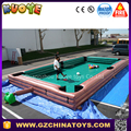 hot sale human inflatable snooker pool table for outdoor inflatable snooker football field