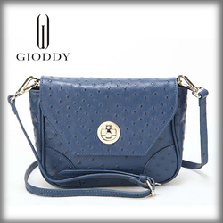 Fashionable lady luxury double strap shoulder bag