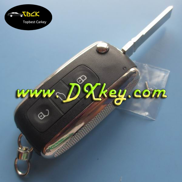 Top seller original car keys with HU 66 blade for key vw golf keyless remote shell 3 buttons