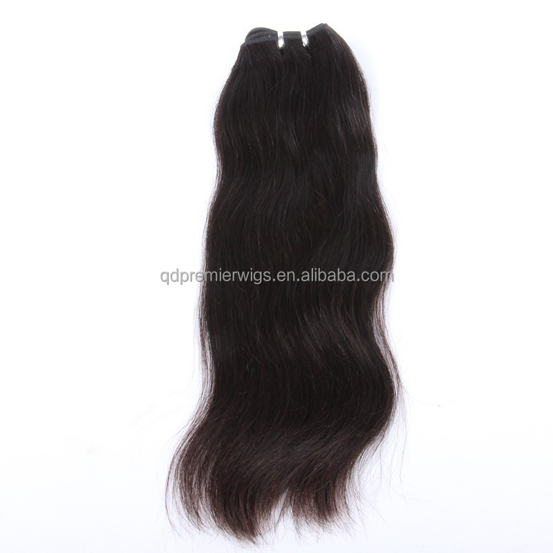 7A grade machine made weft wholesale natural hair extensions