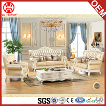 Golden quality classic style luxury european living room furniture fabric sofa set