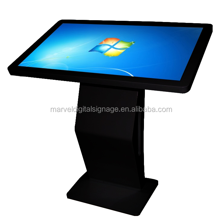 42 inch Black color multimedia interactive table top kiosk