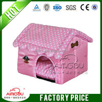 2015 Washable Dog Bed Pet Houses Double Pink Princess Pet Beds