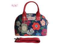 2015 Hot Sell China Wholesale Handbag Candy Flowers Waterproof Canvas Ladies Tote Bag