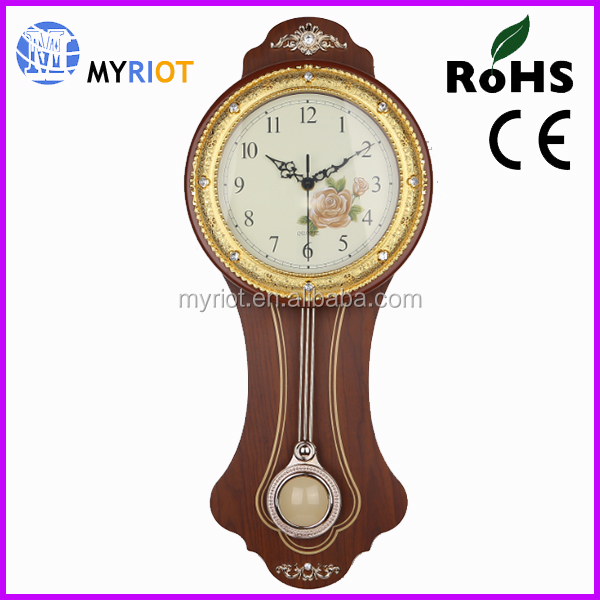 Myriot pendulum wall wood grandfather clock
