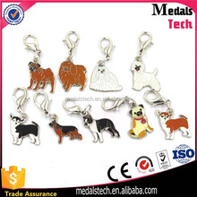 Custom zinc alloy metal hard enamel chinese zodiac animals jewelry pendant charm