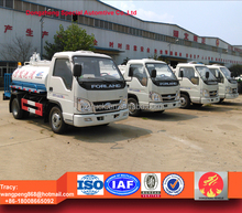 Foton small sewer suction and high pressure cleaning truck, 3000liters vacuum sewage truck for sale