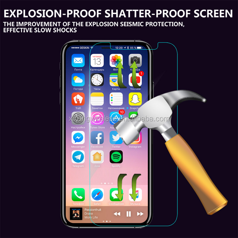 2017 new arrival high quality 2.5D 0.33mm 9h Tempered Glass Screen Protector for iphone 8 screen protector tempered glass