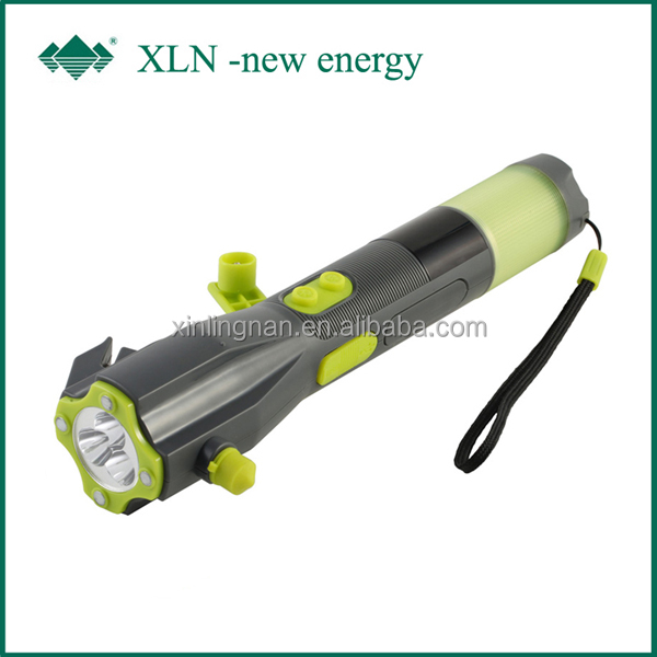 LED Work Light Mini Magnetic LED Flashlight; led torch hammer and power bank+safety cutter (xln-703b)