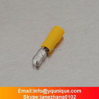 MPD5.5-195 Yellow 12-10A.W.G diameter pre-insulating tinning brass bullet terminal