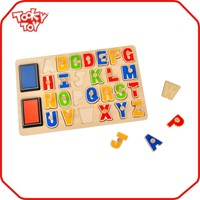 Educational ABC Toy Stamps Wooden Puzzle