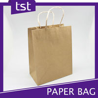 Customized Recyclable Folded Shopping Paper Bag