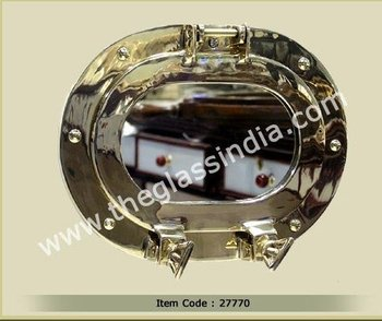 Oval Brass Porthole Mirror