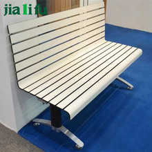Commercial indoor wooden shopping mall benches with backs