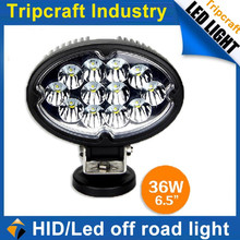offroad 36w led work light with spot beam for boat, mining truck, jeep