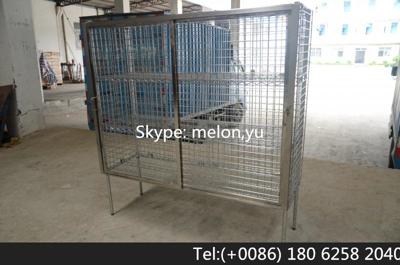 Stainless steel or Chrome Security Cages