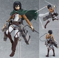 HOT Anime Shingeki No Kyojin Attack on Titan 15cm Mikasa Ackerman Action Figure PVC Doll Toy